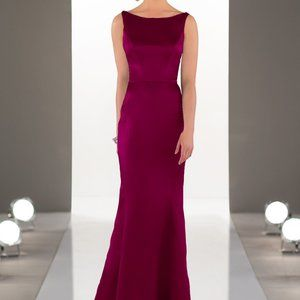 Sorella Vita 8918 Burgundy Satin Dress Sz 10 (14)